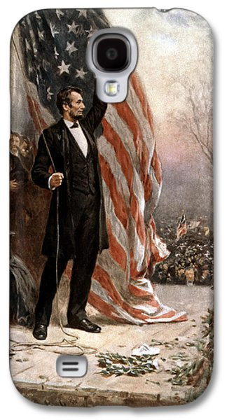 President Abraham Lincoln Giving A Speech Galaxy S4 Case