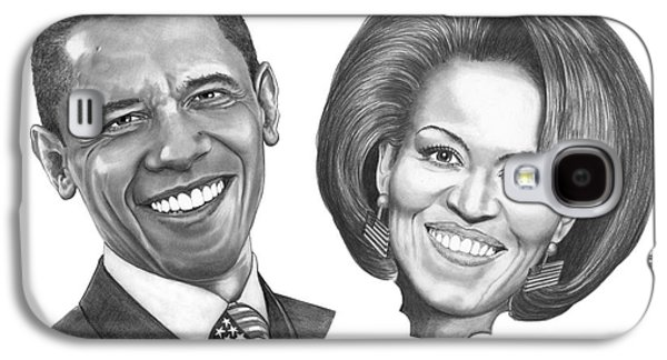President And First Lady Obama Galaxy S4 Case by Murphy Elliott