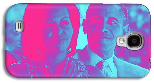 President Barack Obama And The First Lady Michelle Obama Galaxy S4 Case by Asar Studios