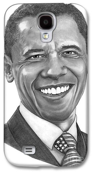 President Barack Obama By Murphy Art. Elliott Galaxy S4 Case by Murphy Elliott