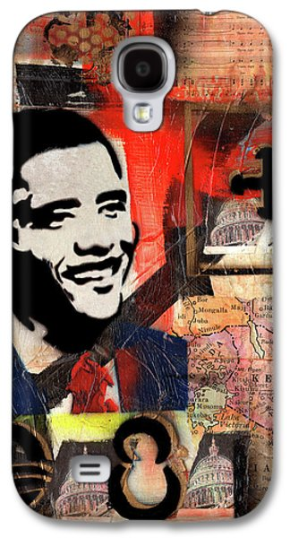 President Barack Obama Galaxy S4 Case by Everett Spruill