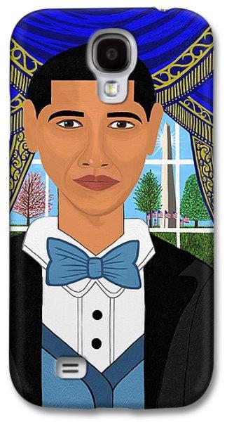 President Barack Obama Galaxy S4 Case by Mallory Blake