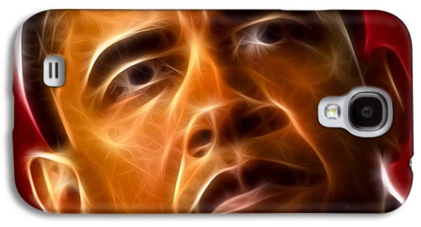 Barack Obama Mixed Media Galaxy S4 Cases - President Barack Obama Galaxy S4 Case by Pamela Johnson