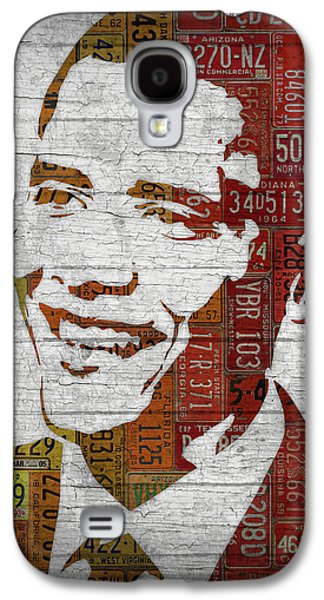 President Barack Obama Portrait United States License Plates Galaxy S4 Case