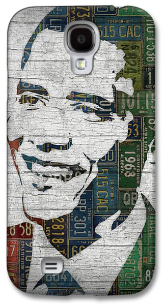 President Barack Obama Portrait United States License Plates Edition Two Galaxy S4 Case by Design Turnpike