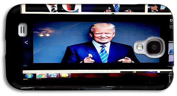 President Elect Donald J. Trump Two Guns Blazing Galaxy S4 Case by Richard W Linford