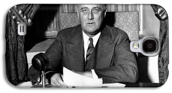 President Franklin Roosevelt Galaxy S4 Case by War Is Hell Store