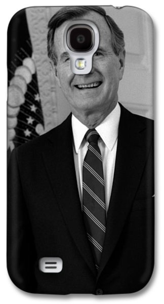 President George Bush Sr Galaxy S4 Case by War Is Hell Store