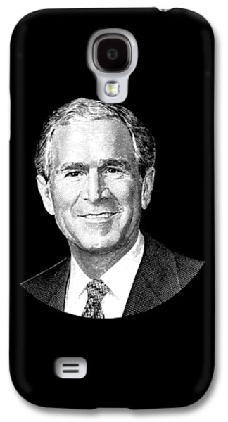 President George W. Bush Graphic Galaxy S4 Case by War Is Hell Store