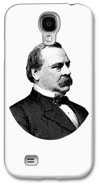 President Grover Cleveland - Black And White Galaxy S4 Case