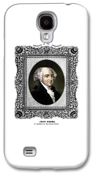 Declaration Of Independence Galaxy S4 Cases - President John Adams Portrait  Galaxy S4 Case by War Is Hell Store
