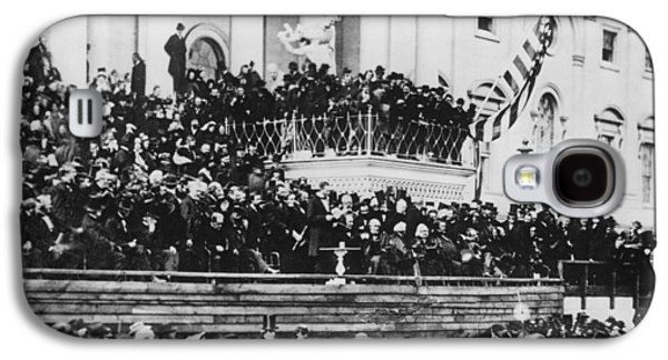 President Lincoln Gives His Second Inaugural Address - March 4 1865 Galaxy S4 Case