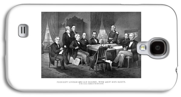 President Lincoln His Cabinet And General Scott Galaxy S4 Case
