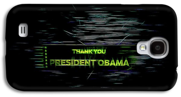 President Obama Galaxy S4 Case by Spencer McDonald
