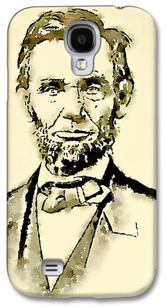 President Of The United States Of America Abraham Lincoln Galaxy S4 Case by John Springfield