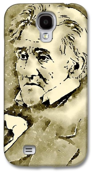 President Of The United States Of America Andrew Jackson Galaxy S4 Case by John Springfield