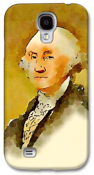 President Of The United States Of America George Washington Galaxy S4 Case by John Springfield