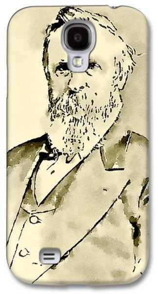 President Of The United States Of America Rutherford Hayes Galaxy S4 Case by John Springfield