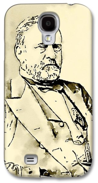 President Of The United States Of America Ulysses Grant Galaxy S4 Case by John Springfield