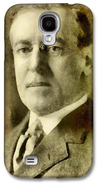President Of The United States Of America Woodrow Wilson Galaxy S4 Case by John Springfield