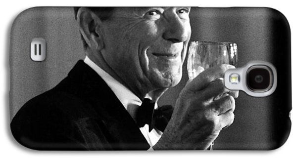 American Mixed Media Galaxy S4 Cases - President Reagan Making A Toast Galaxy S4 Case by War Is Hell Store