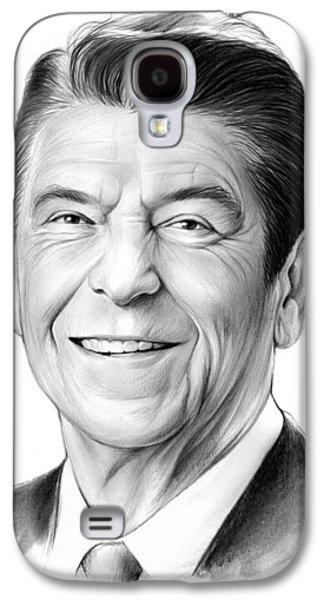 President Ronald Reagan Galaxy S4 Case by Greg Joens