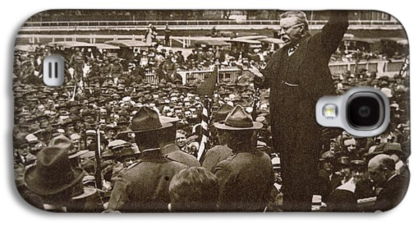 President Theodore Roosevelt Speaking At A Recruiting Rally In June 1917 Galaxy S4 Case