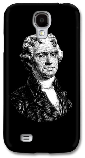 President Thomas Jefferson - Black And White Galaxy S4 Case by War Is Hell Store