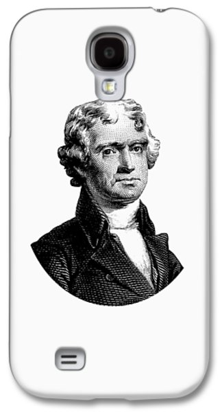 President Thomas Jefferson Graphic Galaxy S4 Case by War Is Hell Store
