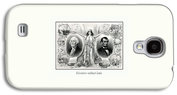 George Washington Galaxy S4 Case - Presidents Washington And Lincoln by War Is Hell Store