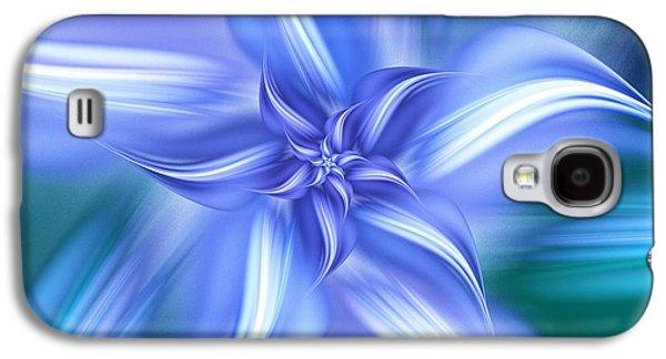 Pretty Blue Flower Galaxy S4 Case