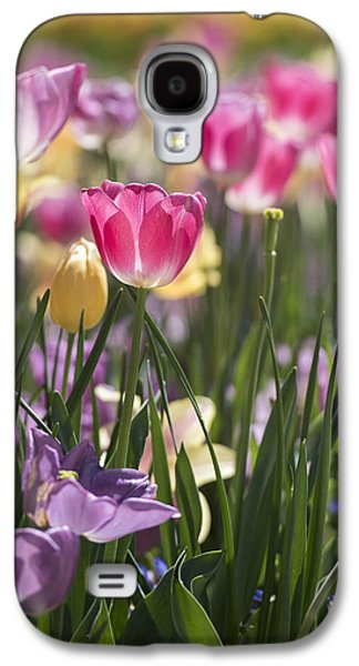 Pretty In Pink Tulips Galaxy S4 Case