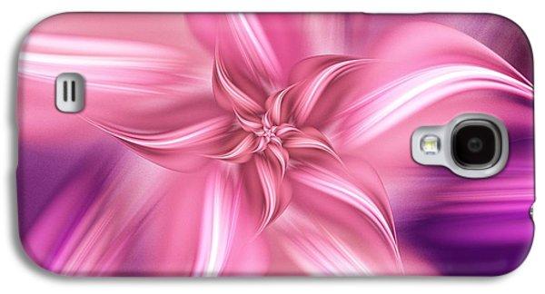 Pretty Pink Flower Galaxy S4 Case