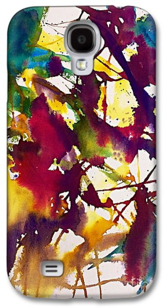 Primary Splatters Abstract  Galaxy S4 Case