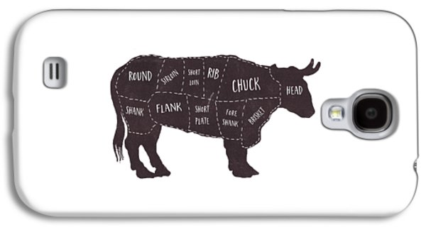 Primitive Butcher Shop Beef Cuts Chart T-shirt Galaxy S4 Case
