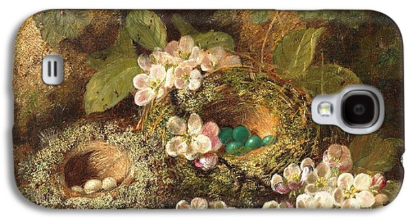 Primroses And Bird's Nests On A Mossy Bank Galaxy S4 Case by Oliver Clare