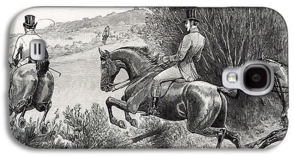 Prince Albert Hunting Near Belvoir Castle  Galaxy S4 Case
