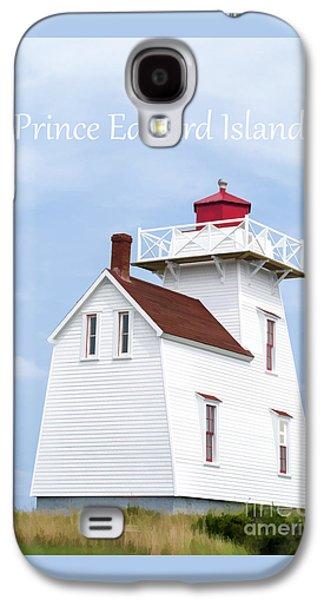 Prince Edward Island Lighthouse Poster Galaxy S4 Case by Edward Fielding