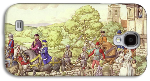 Prince Edward Riding From Ludlow To London Galaxy S4 Case by Pat Nicolle