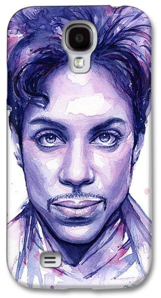 Prince Purple Watercolor Galaxy S4 Case by Olga Shvartsur