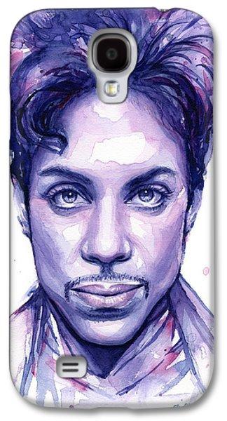 Musicians Galaxy S4 Case - Prince Purple Watercolor by Olga Shvartsur