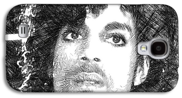 Prince - Tribute Sketch In Black And White 3 Galaxy S4 Case