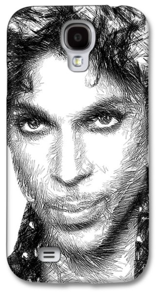 Prince - Tribute Sketch In Black And White Galaxy S4 Case