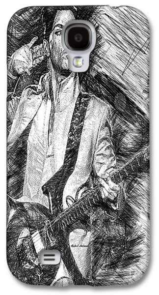 Prince - Tribute With Guitar In Black And White Galaxy S4 Case