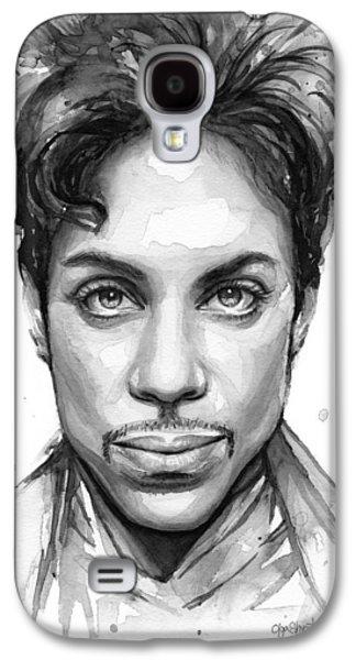 Prince Watercolor Portrait Galaxy S4 Case by Olga Shvartsur