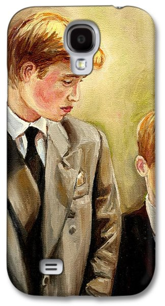 Prince William And Prince Harry Galaxy S4 Case by Carole Spandau