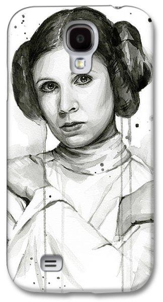 Princess Leia Portrait Carrie Fisher Art Galaxy S4 Case