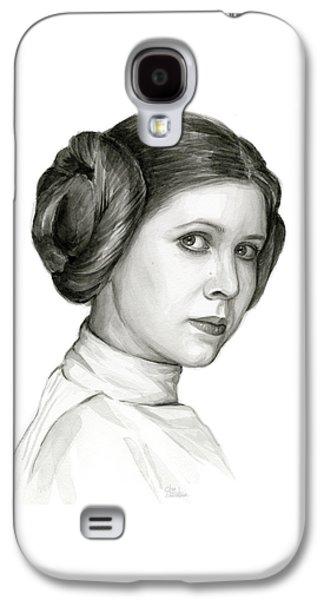 Princess Leia Watercolor Portrait Galaxy S4 Case