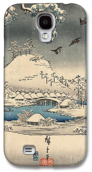 Print From The Tale Of Genji Galaxy S4 Case by Hiroshige