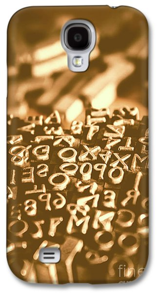 Print Industry Typographic Letters And Numbers Galaxy S4 Case by Jorgo Photography - Wall Art Gallery